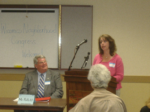 Susan Carey spoke on behalf of the Johnson's Lake neighborhood and about problems it faces.