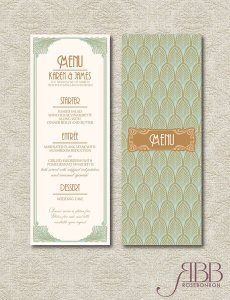 Art Deco Menu on Etsy