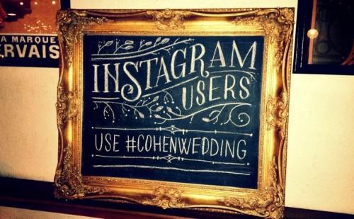 Giant-framed-instagram-wedding-hashtag