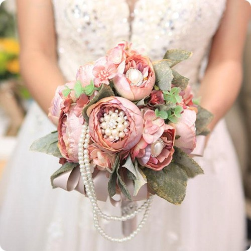 vintage-european-style-luxury-champange-wedding-artificial-flowers-bridal-bouquets-leaves-wedding-supplies-with-rhinestone