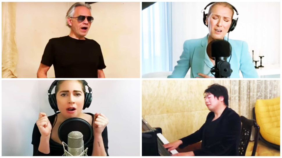 One World-Together at Home: Andrea Bocelli, Celine Dion, Lady Gaga, Lang Lang