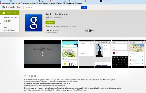 Installer Google now