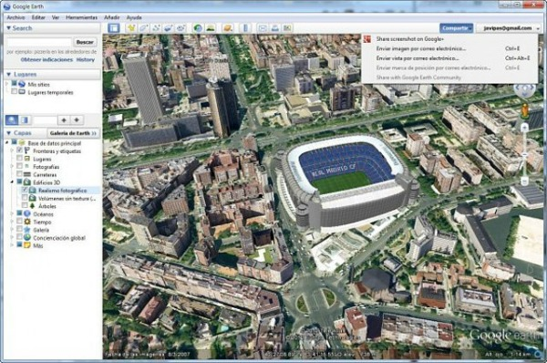 lancer une visite guidée avec Google Earth