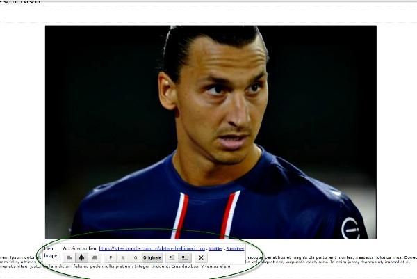 modifier la photo sur Google site
