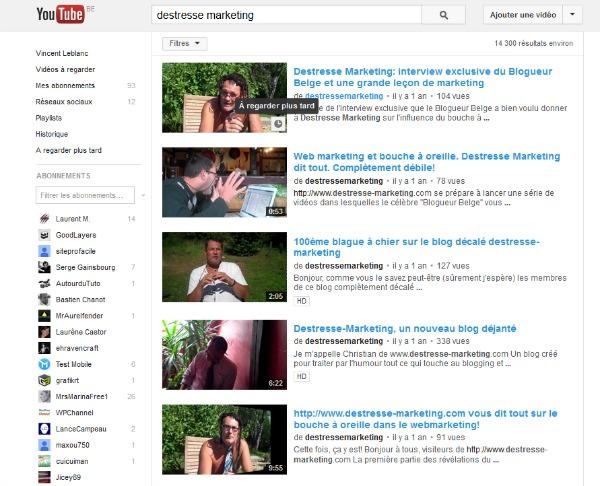 Sélectionner une vidéo Youtube