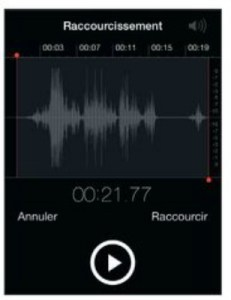 raccourcir le memo vocal