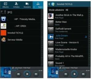 Écouter un titre musical depuis un appareil accessible en réseau