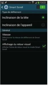 Activer et configurer la fonction Smart Scroll