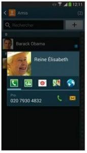 appeler rapidement un contact