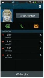 rappeler un contact