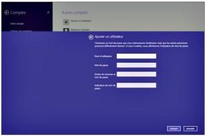 Indiquez le nom de l'utilisateur et le mot de passe