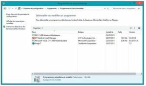 Le panneau de configuration de Windows 8.1