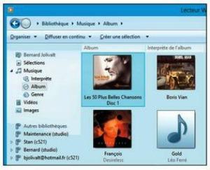 La pochette de l'album se trouve dans le Lecteur Windows Media