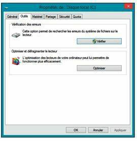 Accédez aux outils de maintenance du disque dur