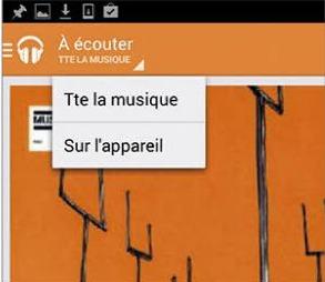 Afficher des morceaux de musique enregistrés sur la tablette