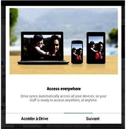 Connecter l'appareil Android à Google Drive