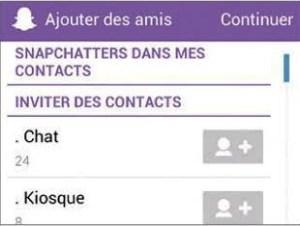 Inviter vos amis snapchat