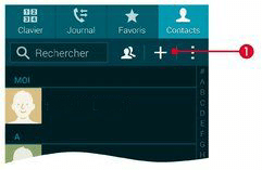 Toucher l'icône +