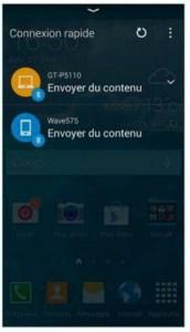 Se connecter facilement à d'autres appareils en Bluetooth ou en Wi-F
