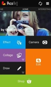 Créer de belles photos avec picsart