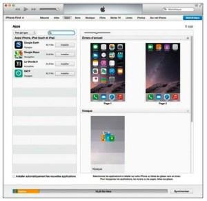 Double-cliquez sur l'écran contenant des applications afin de l'agrandir