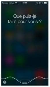 Siri attend votre demande