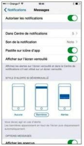 Soyez notifié des SMS, MMS et iMessages qui vous parviennent