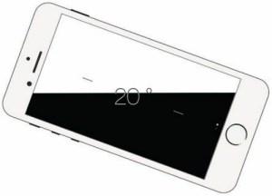 L'iPhone 6 est capable de mesurer une inclinaison