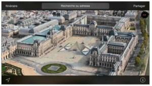 Le survol du Louvre, à Paris, en mode FlyOver
