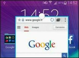 L'application se loge alors au sein de cette fenêtre que vous pouvez redimensionner et déplacer à l'écran