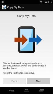 Utiliser l'appli Copy My Data
