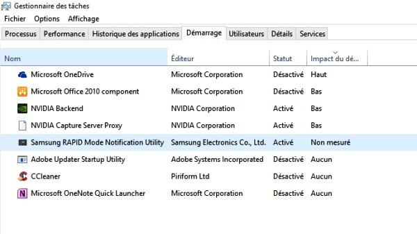 Optimiser le système de démarrage de Windows 10