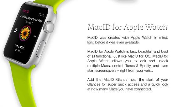 MacID pour l'Apple Watch