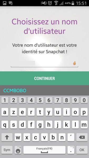 créer un compte snapchat