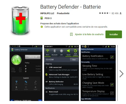 application android battery defender