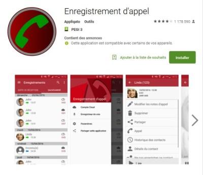Enregistrement d'appel pour Android