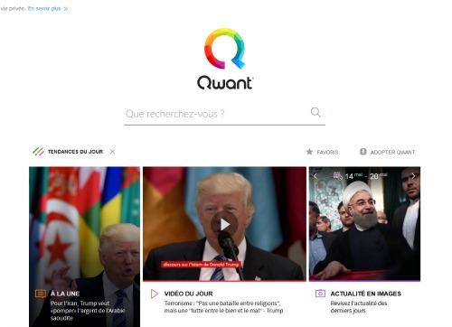 Le moteur de recherche Qwant