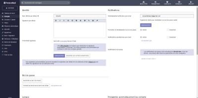 Interface de ProtonMail
