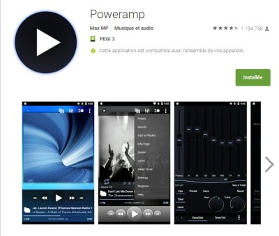 Application PowerAmp