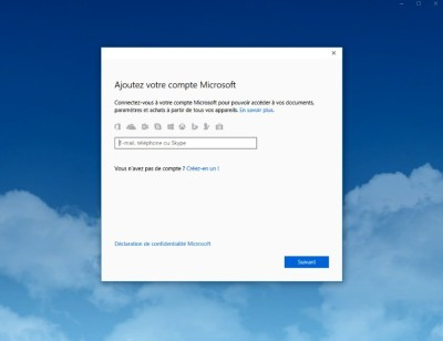 Ajouter un compte Microsoft