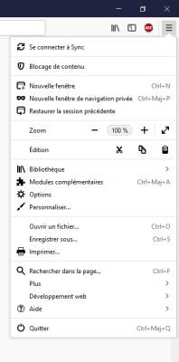 synchroniser les paramètres Firefox