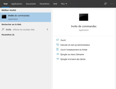 Invite de commandes Windows