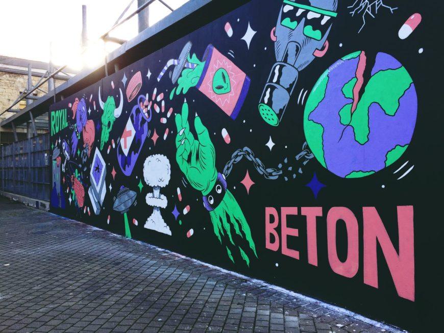Street-art sur le M.U.R. à Bordeaux-Chartrons