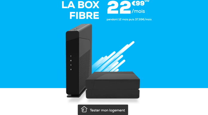 La Poste Mobile's offer on a fiber optic box