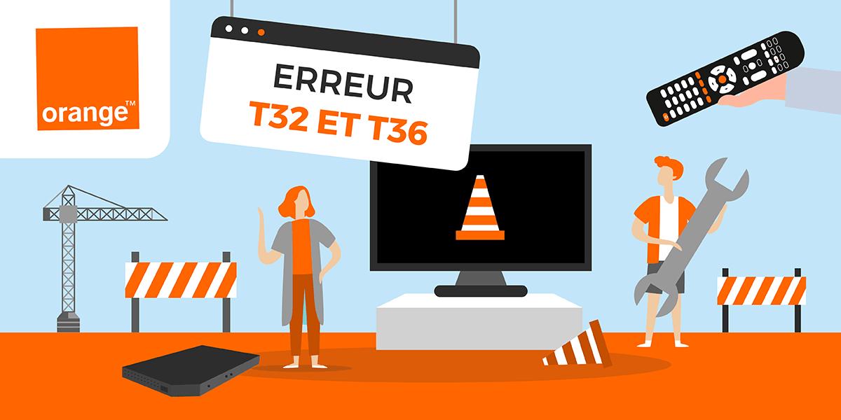 code erreur t32 ou t36 sur le decodeur