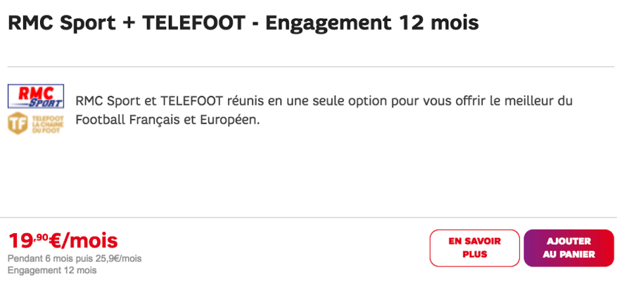 Telefoot and RMC Sport in SFR promo