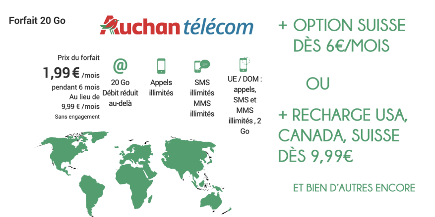 auchan telecom package 20 go with options