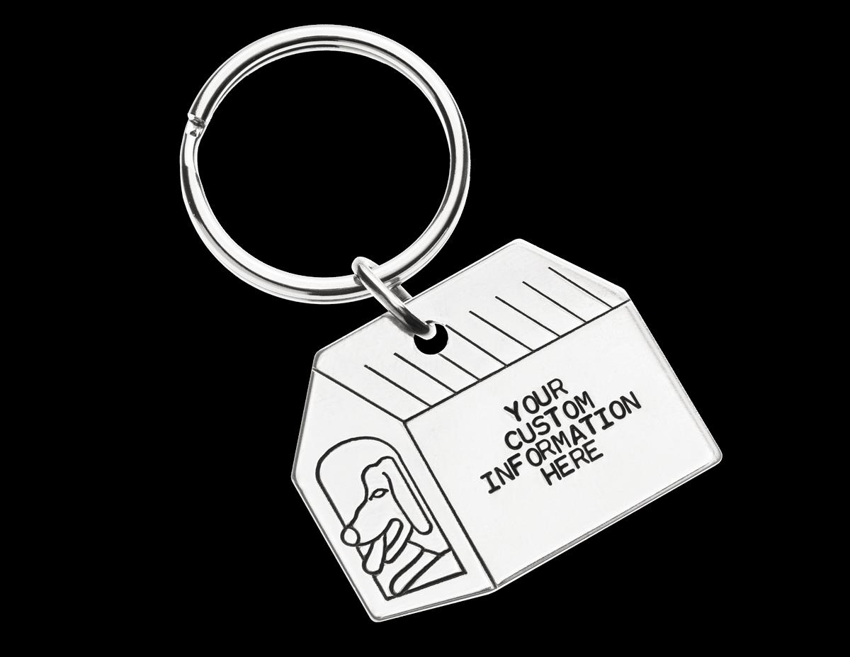 Dog House Shaped Key Id Tag Monroe Id