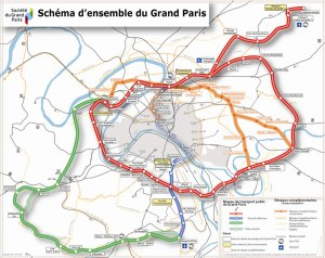 carte transport public du Grand Paris saclay