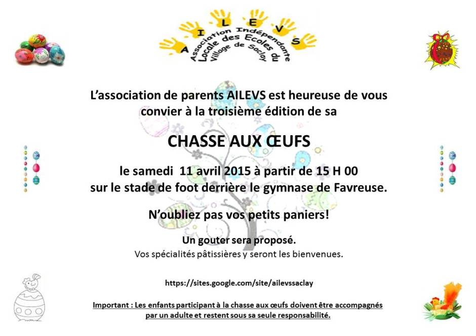 Chasse aux oeufs 2015